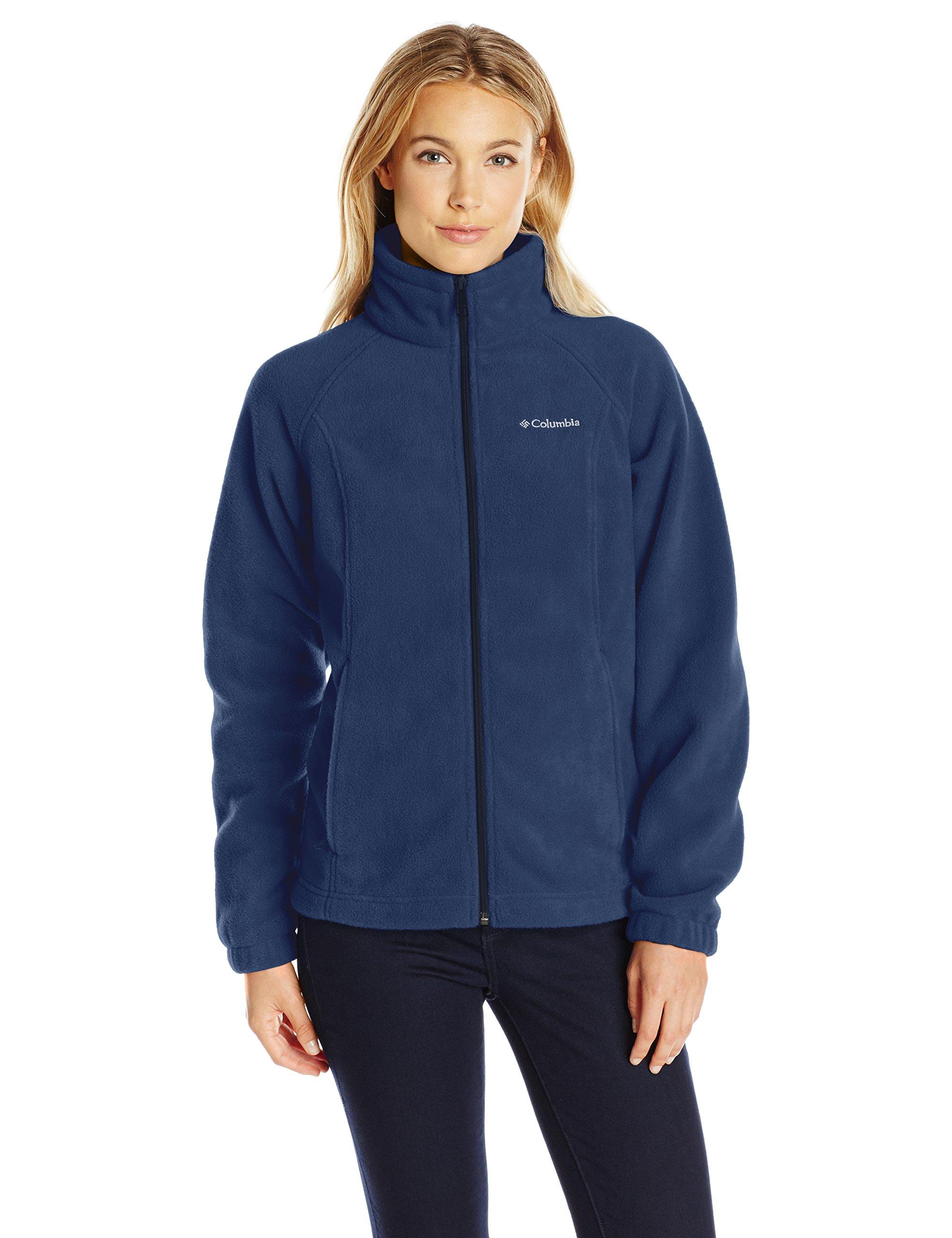 Columbia Women's Petite Benton Springs Full Zip Fleece Jacket - X-Large - Columbia Navy