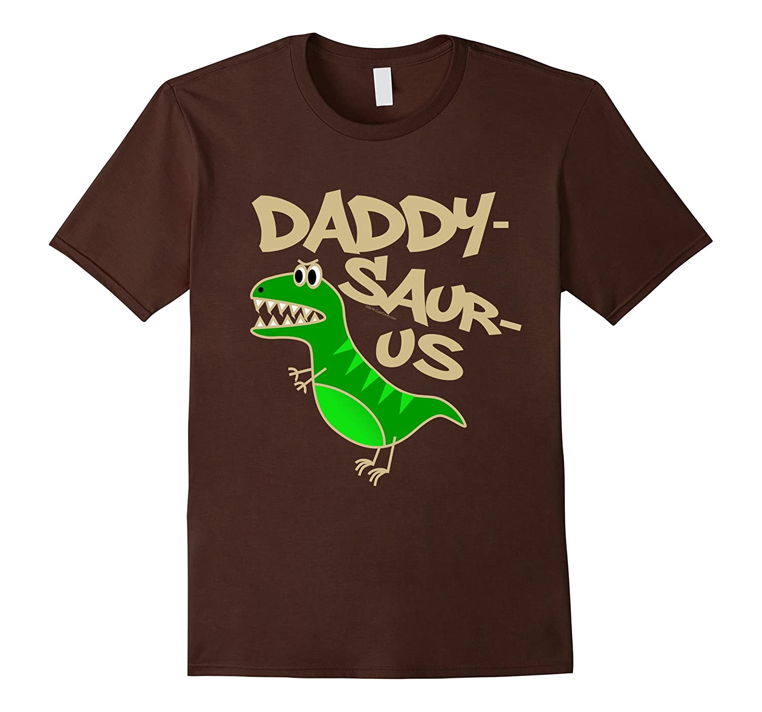 Mens Daddy-Saurus Funny T-Rex Dad Dinosaur Fathers Day T-Shirt-TH