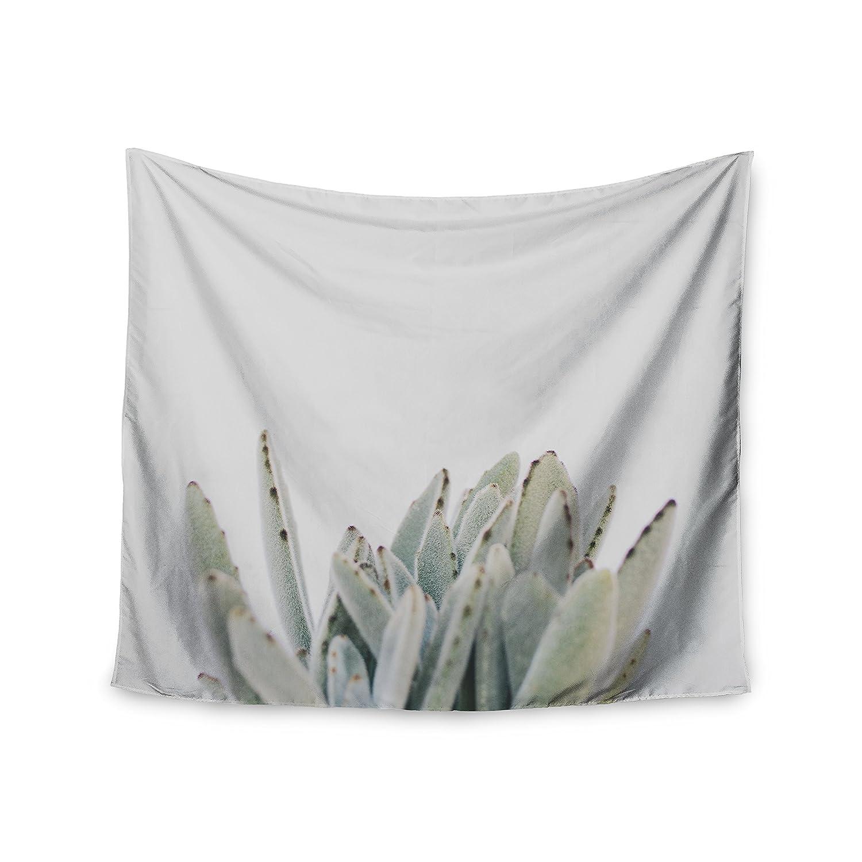 68 x 80 KESS InHouse Kristi Jackson Succulent 3 Green Photography Wall Tapestry