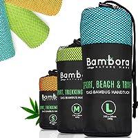 Bambora Mikrofaser Handtuch Schnelltrocknend aus Bambus - Ultra Leichtes Microfaser Reisehandtuch, Badetuch, Strandtuch zum Reisen, Sport & Baden