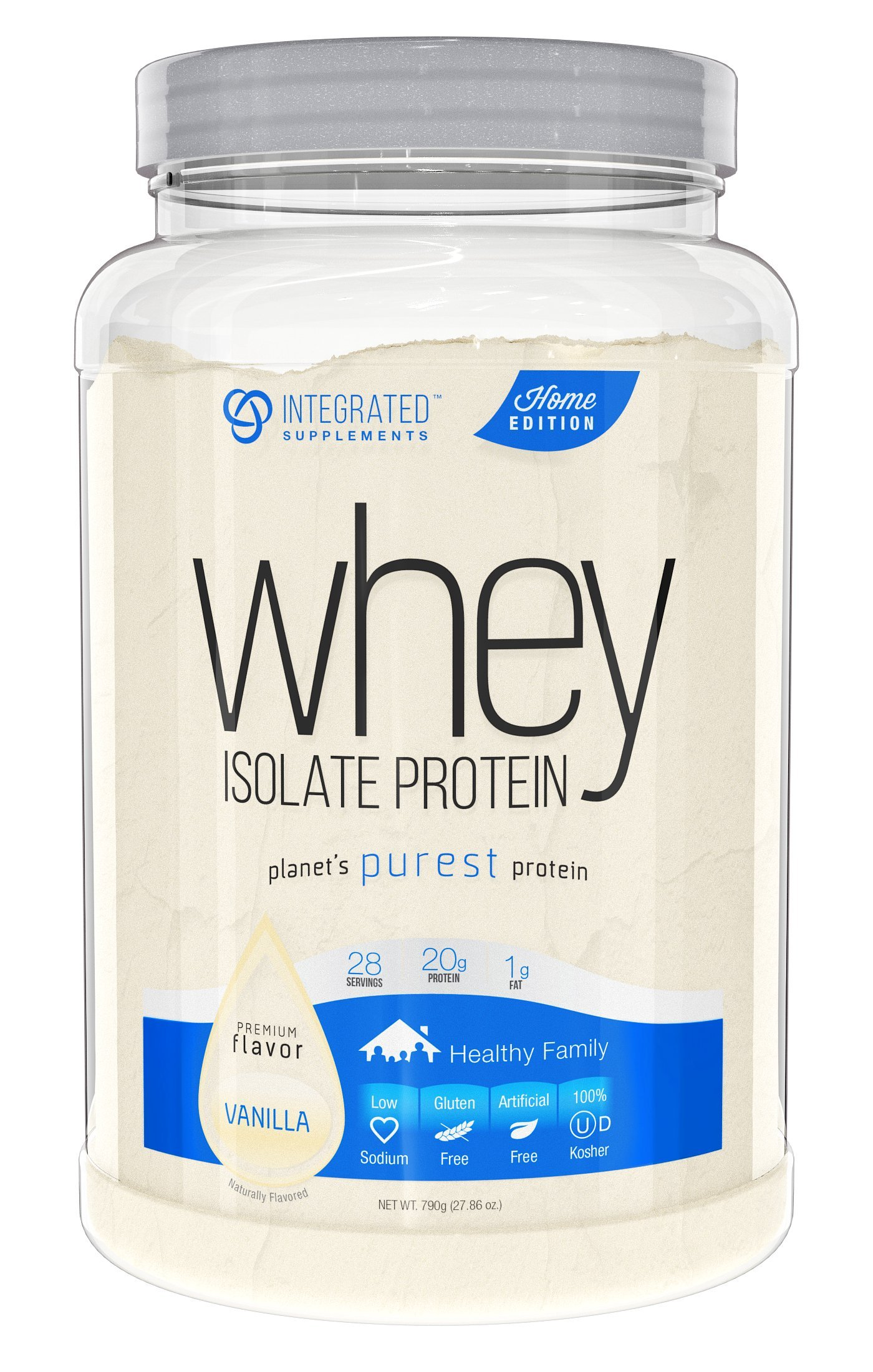 Integrated Supplements CFM Whey Protein Isolate Diet Supplement, Vanilla Ice Cream, 1.88 Pounds by Integrated Supplements