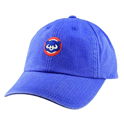1bba543e17ea3 Image Unavailable. Image not available for. Color  American Needle Chicago  Cubs Conway Ripstop Slouch Adjustable Hat Blue
