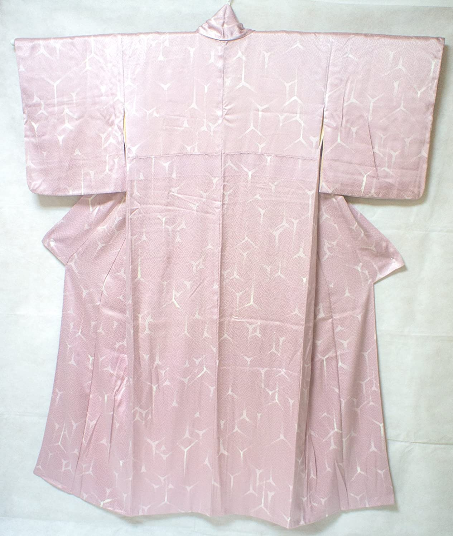 Kimono Robe: Soft Silk Komon Traditional Antique CP
