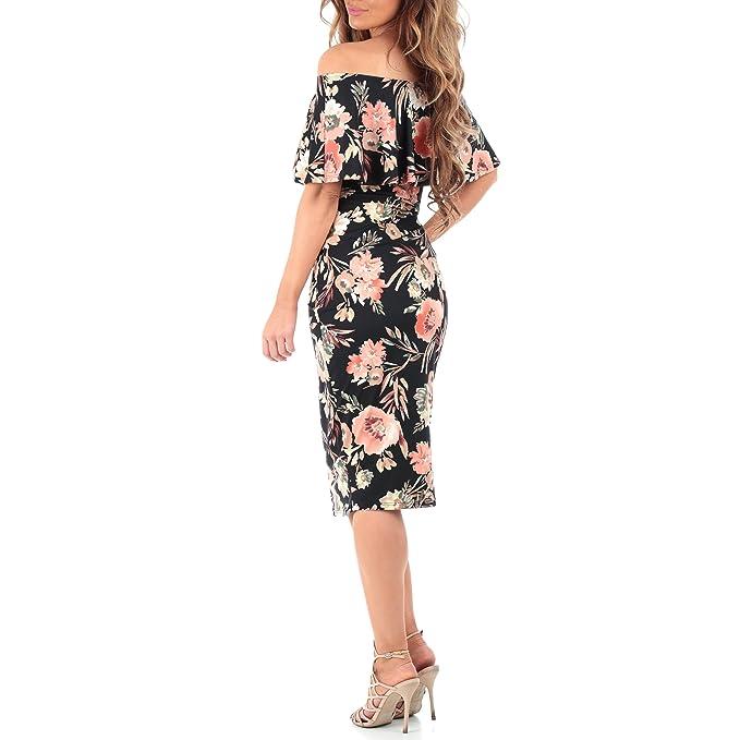 4d098d01384da Women's Off Shoulder Ruffle Maternity Dress - Made in USA at Amazon Women's  Clothing store:
