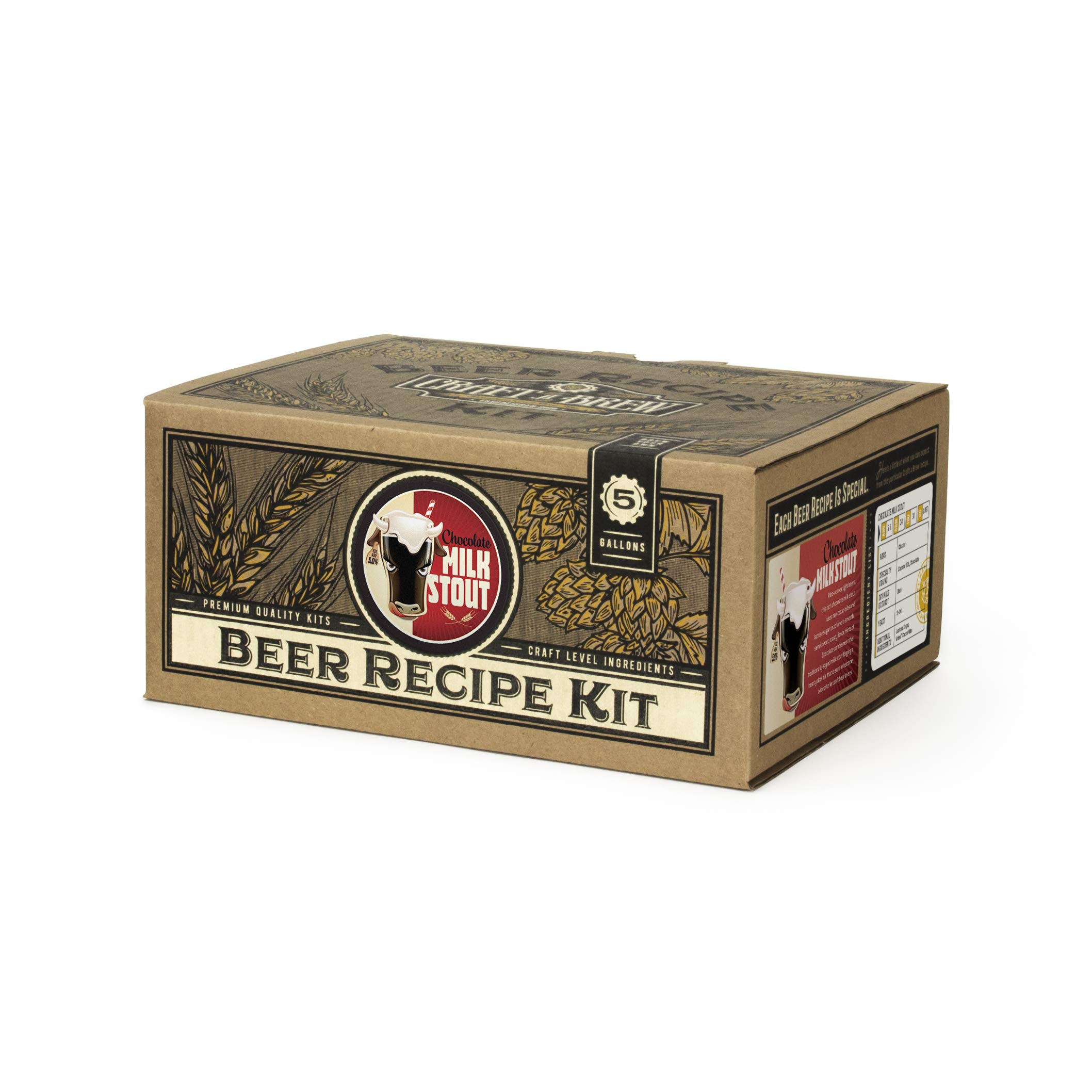 Home Brew Kit – Craft a Brew 5 Gallon Beer Recipe Chocolate Milk Stout Beer Kit – Make Your Own Beer with Home Brewing 5 Gallon Kits – Home Brewing Ingredient Kit