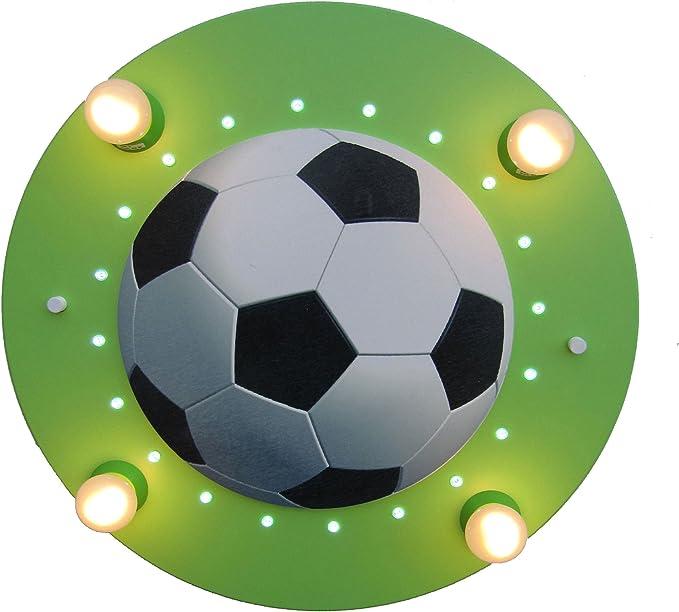 Elobra - Lámpara led de techo (20 ledes), diseño de balón de ...