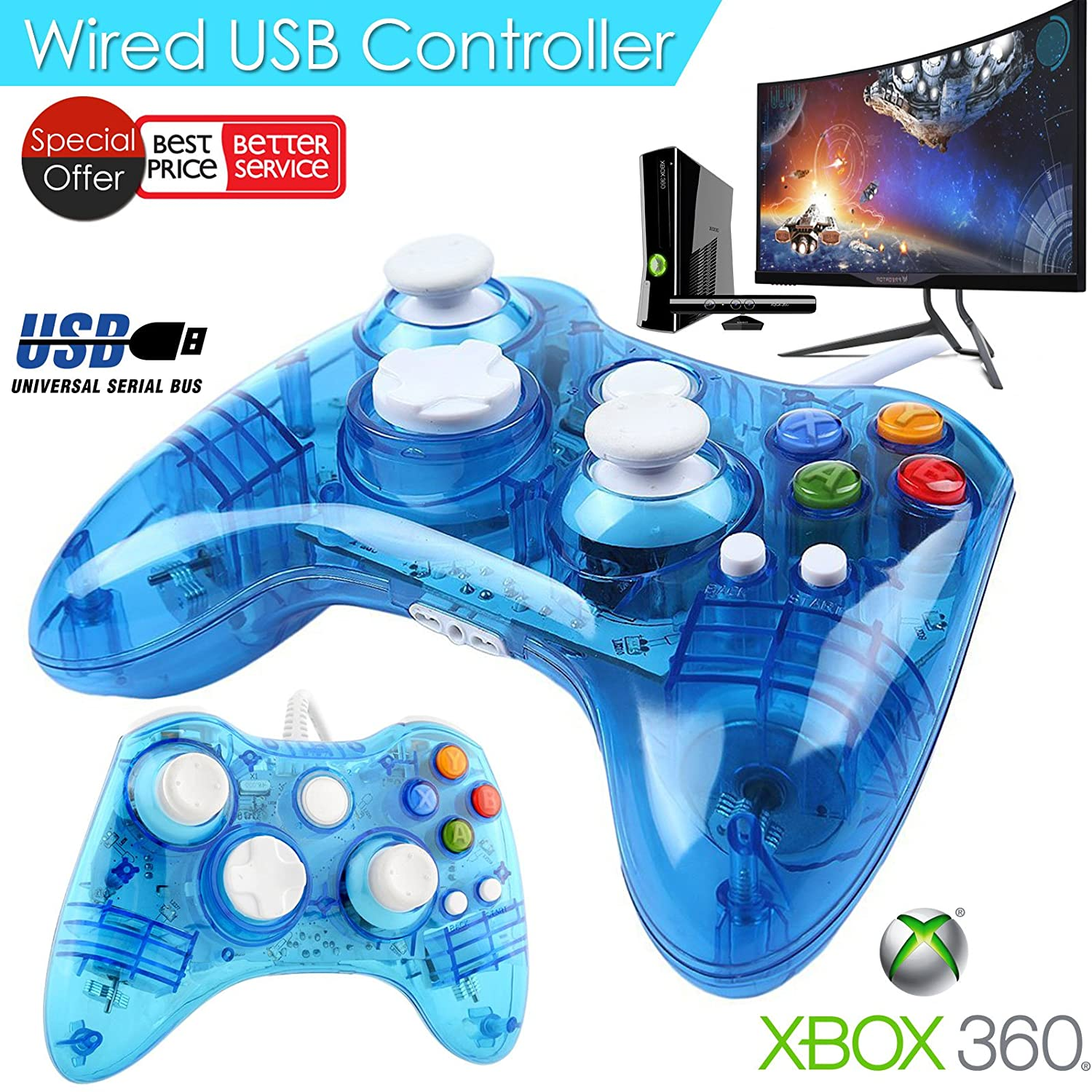 Afterglow Wired LED colour glow Controller - Blue for: Amazon.co.uk ...