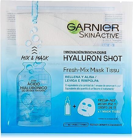 Garnier Hyaluron Shot, Mascarilla antiestrés relajante para la cara - 33 gr