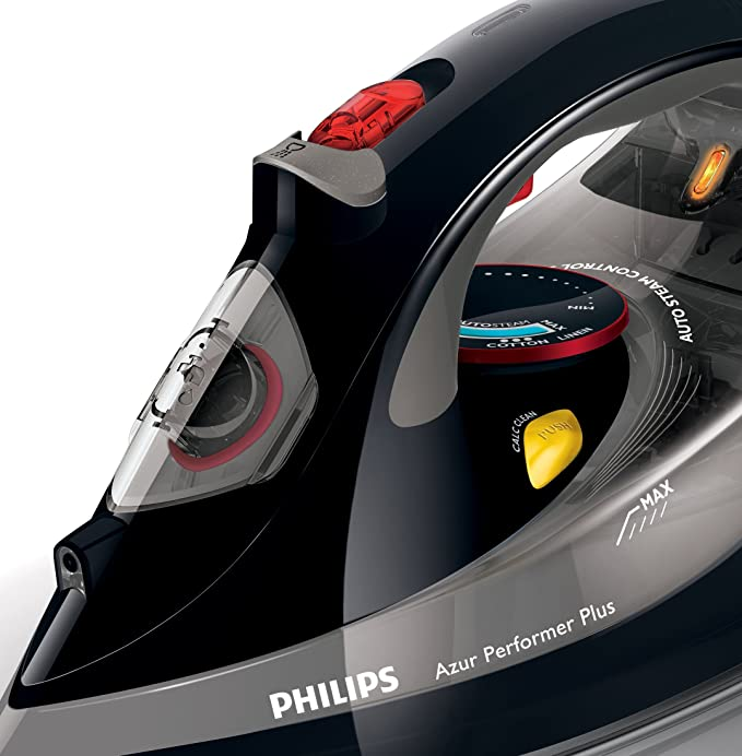Philips GC4526/87 Azur Performer Plus Steam Iron with 210 g Steam Boost, 2600 W - Black [Energy Class A]