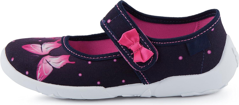 Ladeheid Chaussure Fermeture /à Scratch Ballerine Fille LAVI0004