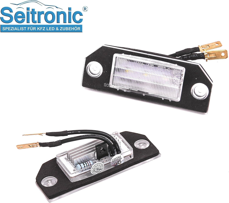 Seitronic Hochwertige Premium Led Kennzeichenbeleuchtung 2 Passgenau Fahrzeug Module Abnahme Frei Sehr Hell E Prüfzeichen Auto