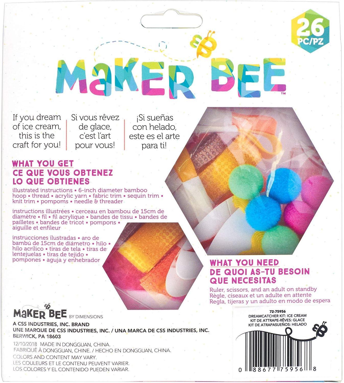 Dimensions 72-75950 Simplicity Maker Bee Rainbow DIY Dream Catcher ...