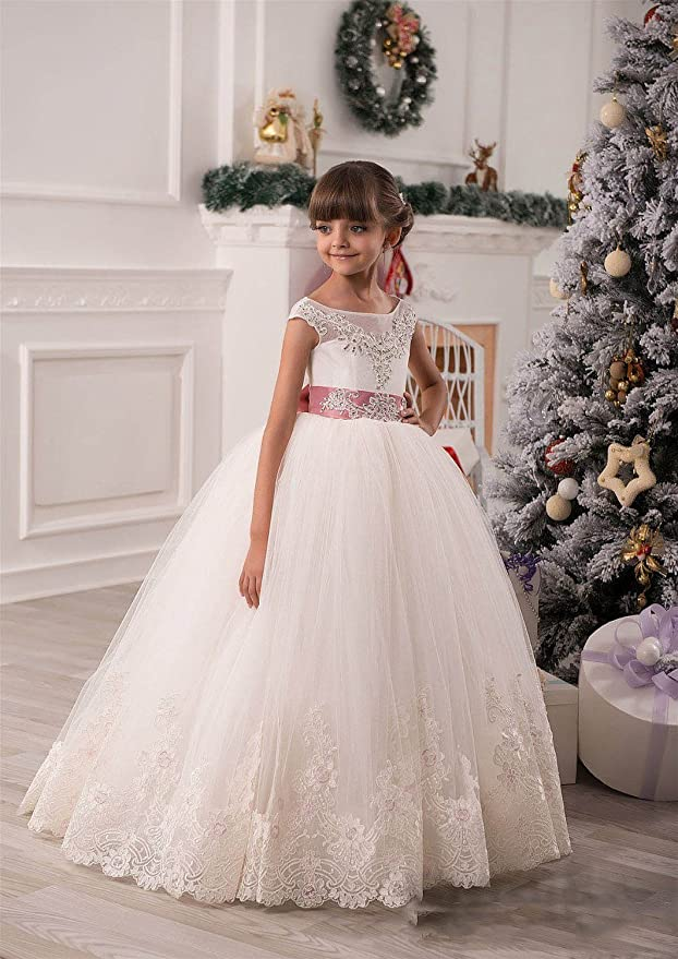 Amazon.com: Ellenhouse Children Flower Girls Wedding Dresses Kids First Communion Gown EL024: Clothing