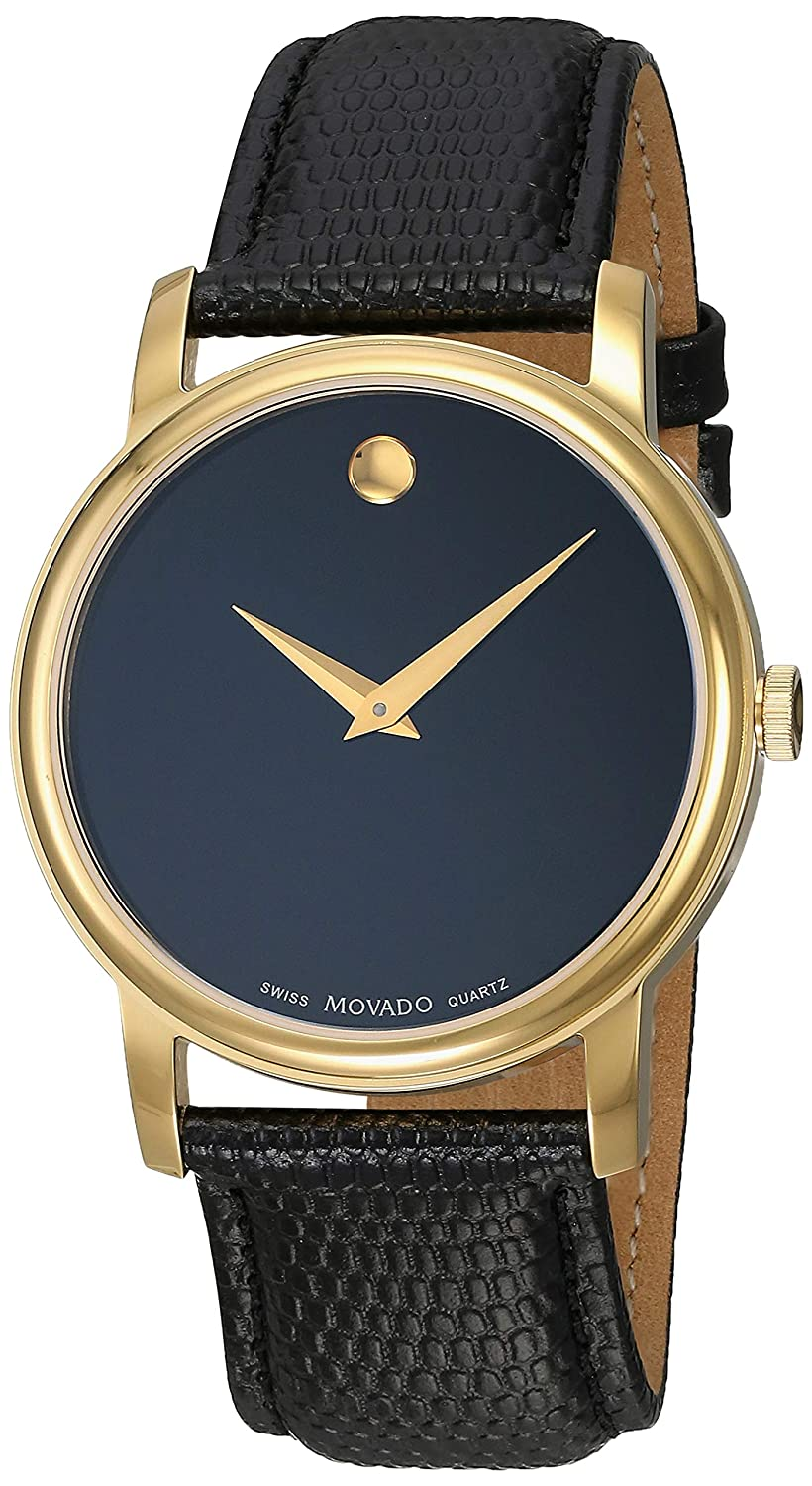 Amazon.com: Movado Mens 2100005 Museum Black Stainless Steel Watch: Watches