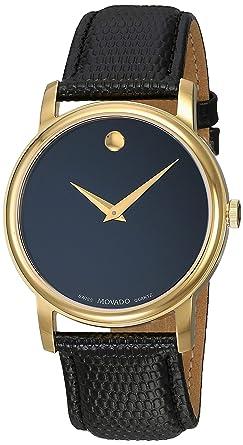 Movado Mens 2100005 Museum Black Stainless Steel Watch