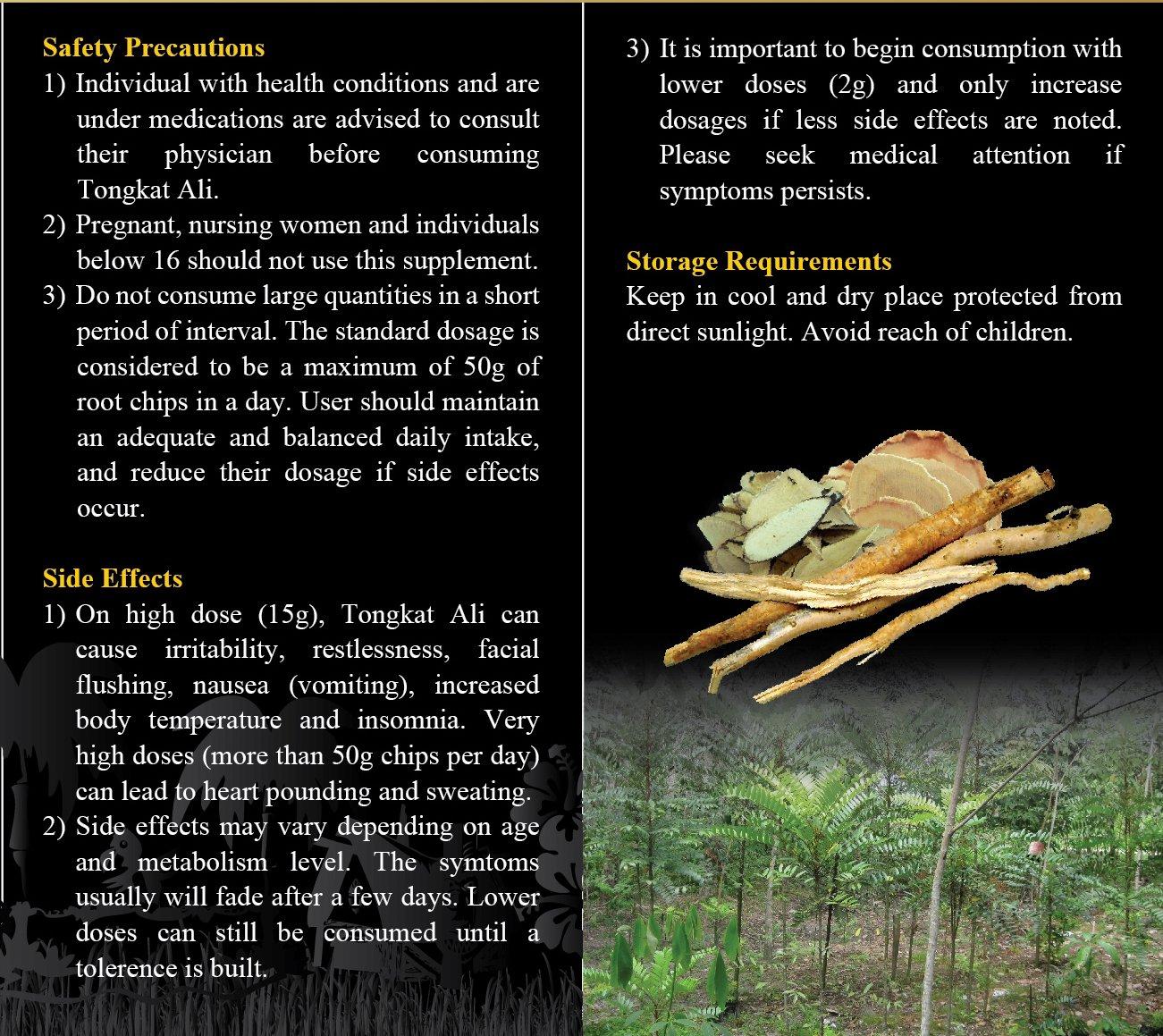 Natural Herbal Sex Booster, 100% Pure Black Tongkat Ali [Polyalthia Bullata] Root Slices (100g) by Rahsia Herbal (Image #6)