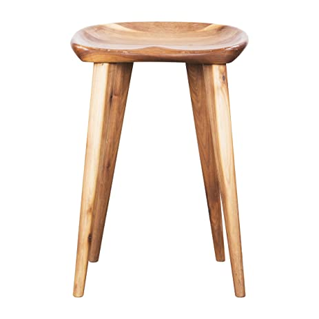 H.D. Buttercup Taburet White Oak Counter Stool, Molded Bar Stool, Modern  Furniture Collection