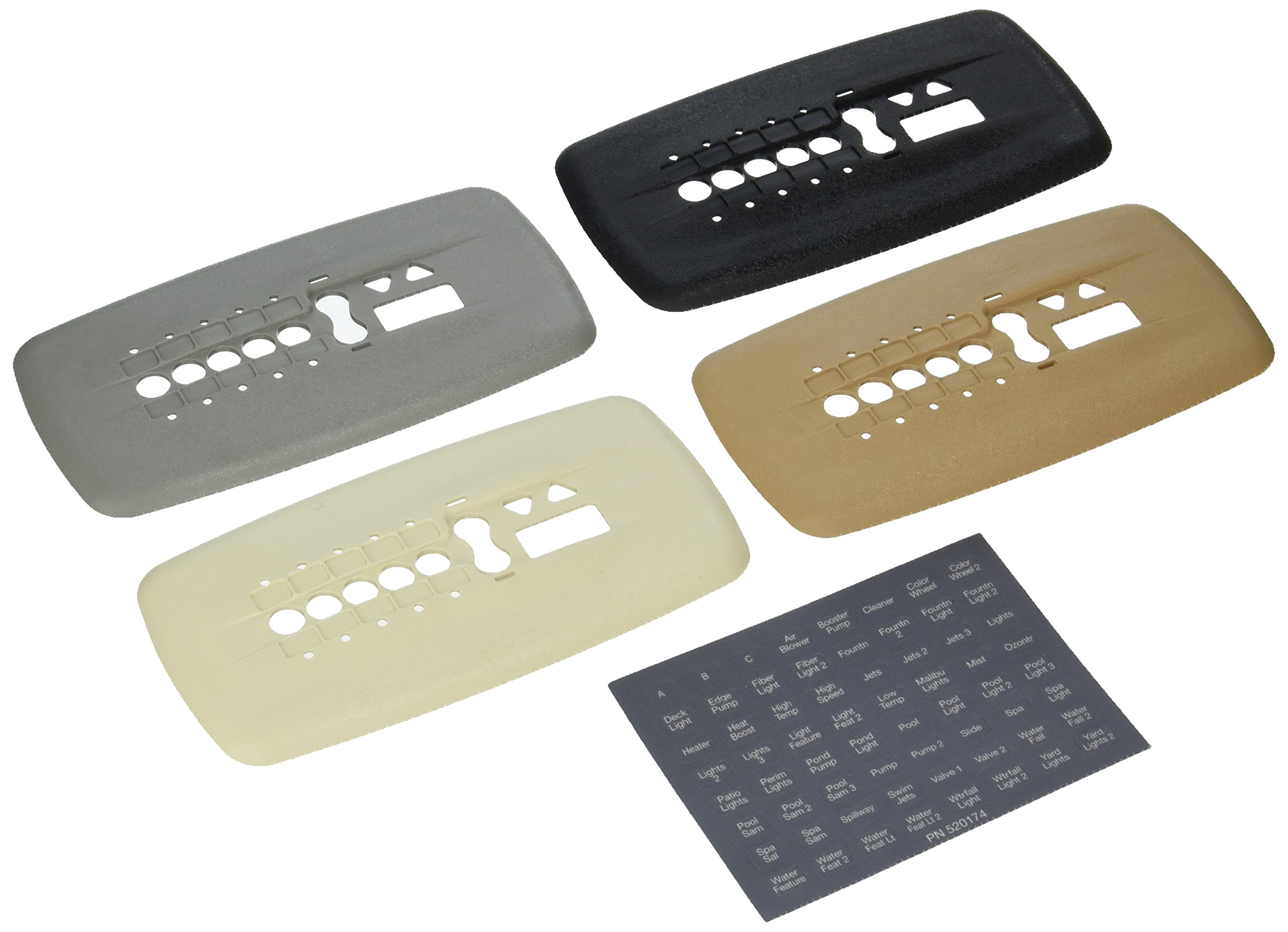 Pentair 520355 IntelliTouch Colored Surface-Mount Faceplate Kit with Label Set