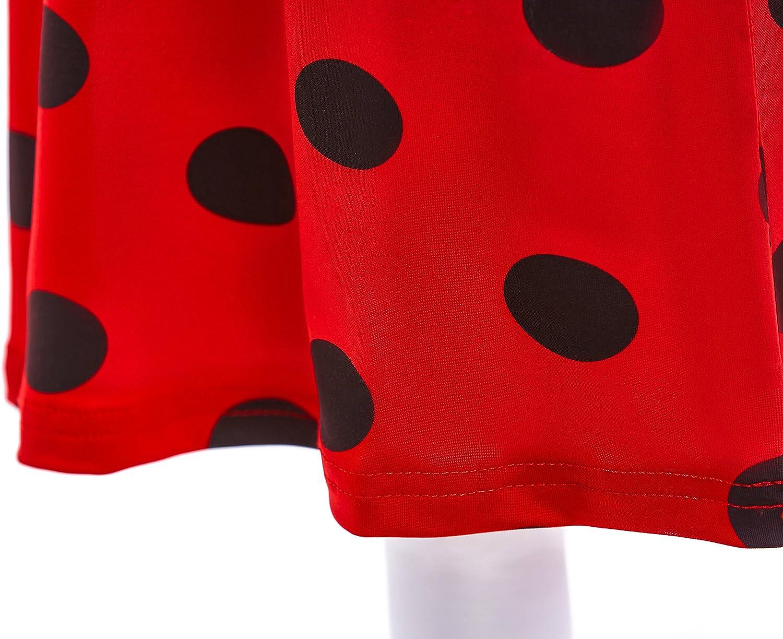 Dressy Daisy Girls Ladybug Polka Dots Red /& Black Nightgown Dress Up Costume Fancy Birthday Party Sleepwear Size 8