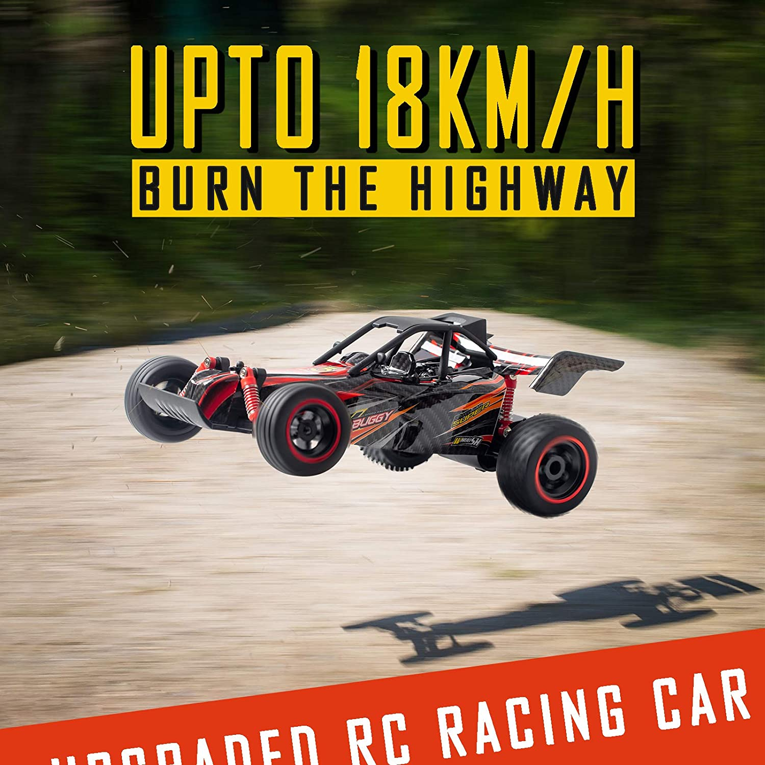 INVINZER Remote Control Racing Car 1:16 High Speed RC Car for Boys 2WD RC Drift Race Car with 2 Batteries for 40 Mins Play Toy Car Gift for Kids