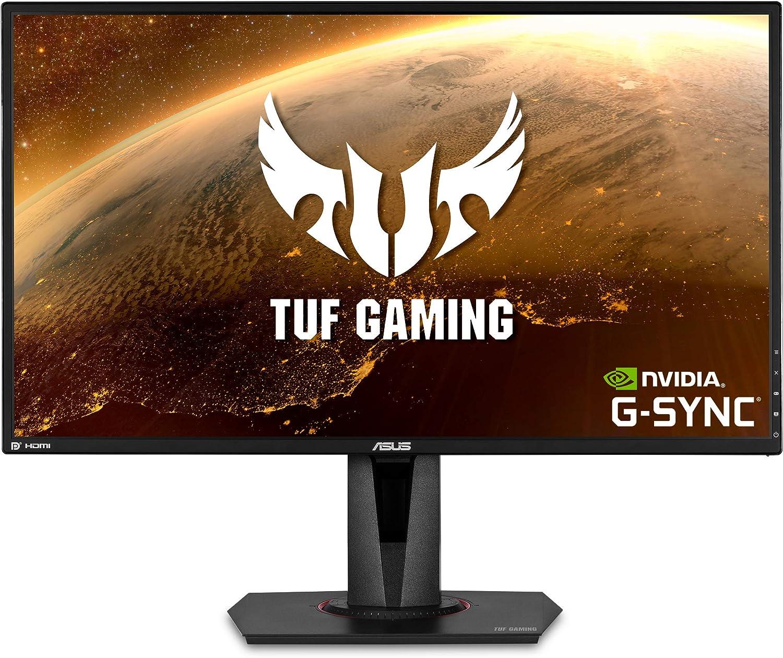 "ASUS TUF Gaming 27"" 2K HDR Gaming Monitor (VG27BQ) - WQHD (2560 x 1440), 165Hz (Supports 144Hz), 0.4ms, Extreme Low Motion Blur, Speaker, G-SYNC Compatible, VESA Mountable, DisplayPort, HDMI , Black"