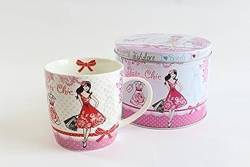 Mug Mina Boîte 0677Une Tasse En Porcelaine Très Cadeau Chic 8PXnOk0w