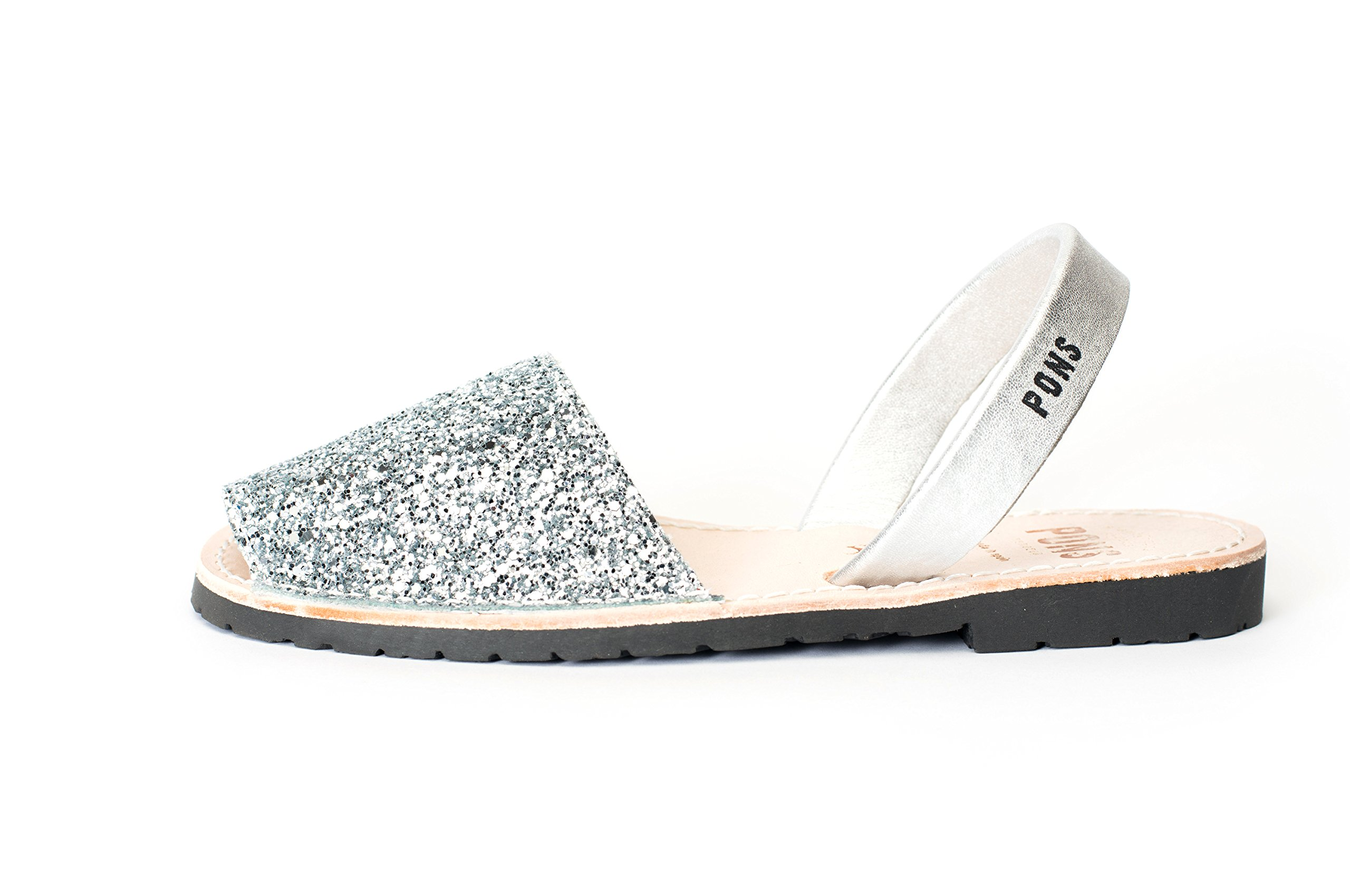 510G - Avarca Pons Classic Style Glitter - Silver - 40 ( US 10 )