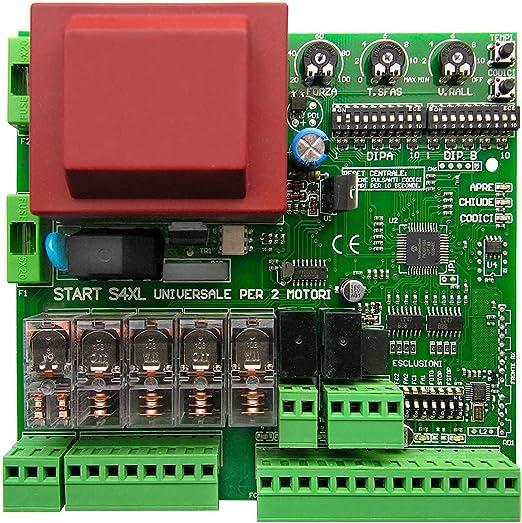 Unidad de Control Universal para 2 Motores 220V Apto para Puertas a Dos Puertas con Bisagras o Corredizo, Completo Receptor Radio 433MHZ Universal: Amazon.es: Bricolaje y herramientas