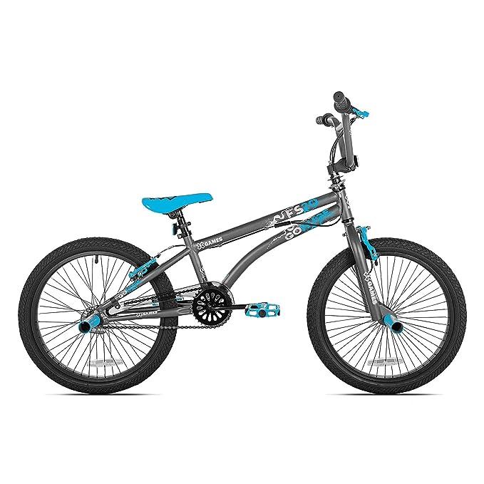 X Games FS20 Single Speed 20 Inch Wheel Freestyle Trick BMX Bike, Dark Grey best bmx bikes