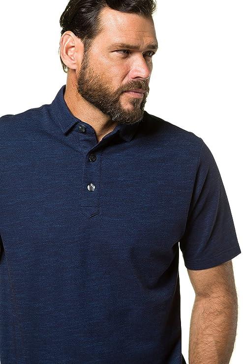 JP1880 Homme Grandes Tailles Homme Polo Shirts Manche Courte Casual T-Shirt Mode Mince Fit Chemise Tee Tops Bleu Marine XL 714258 76-XL be3JZ8IXCm