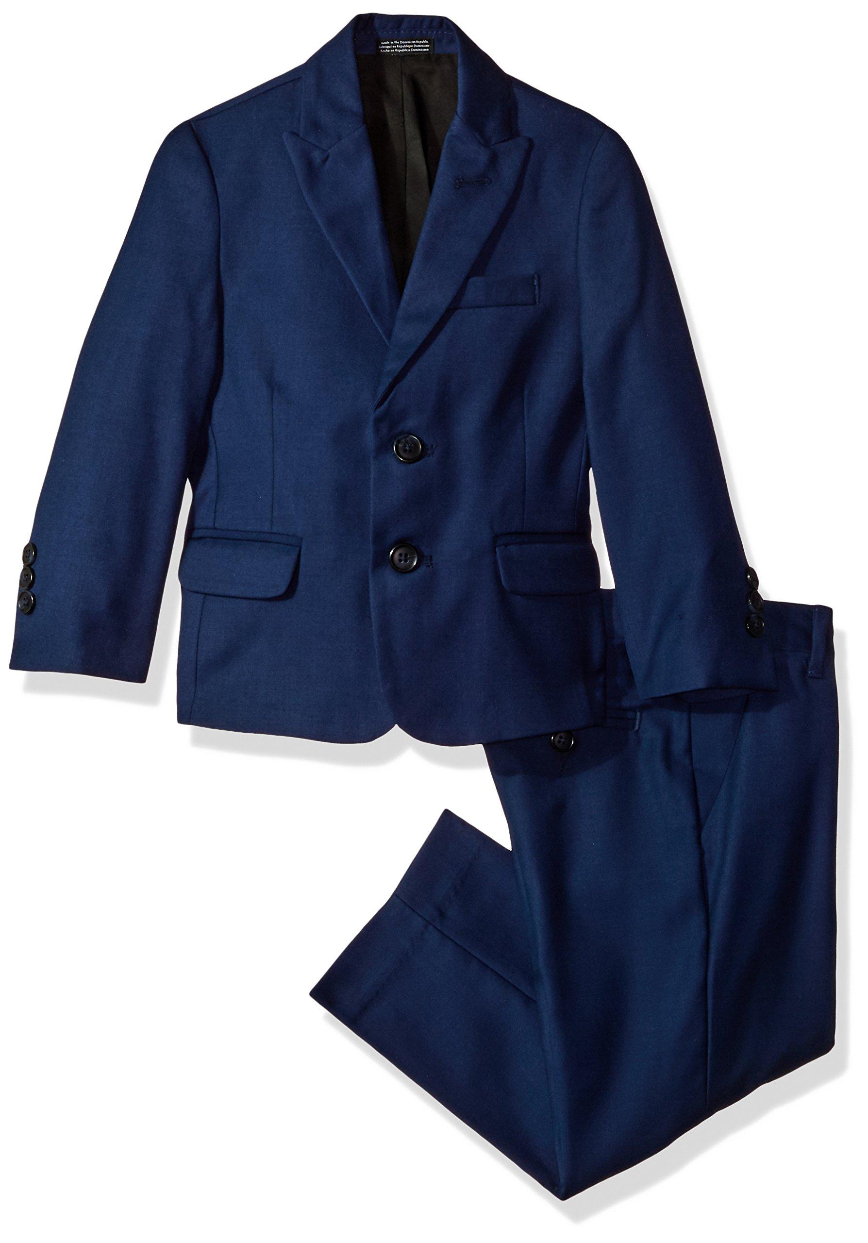 Calvin Klein Big Boys' Two Piece Infinite Blue Suit, Bright Blue, 8