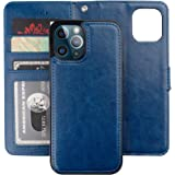 Bocasal Compatible with iPhone 12 Mini Wallet Case with Card Holder PU Leather Magnetic Detachable Kickstand Shockproof Wrist