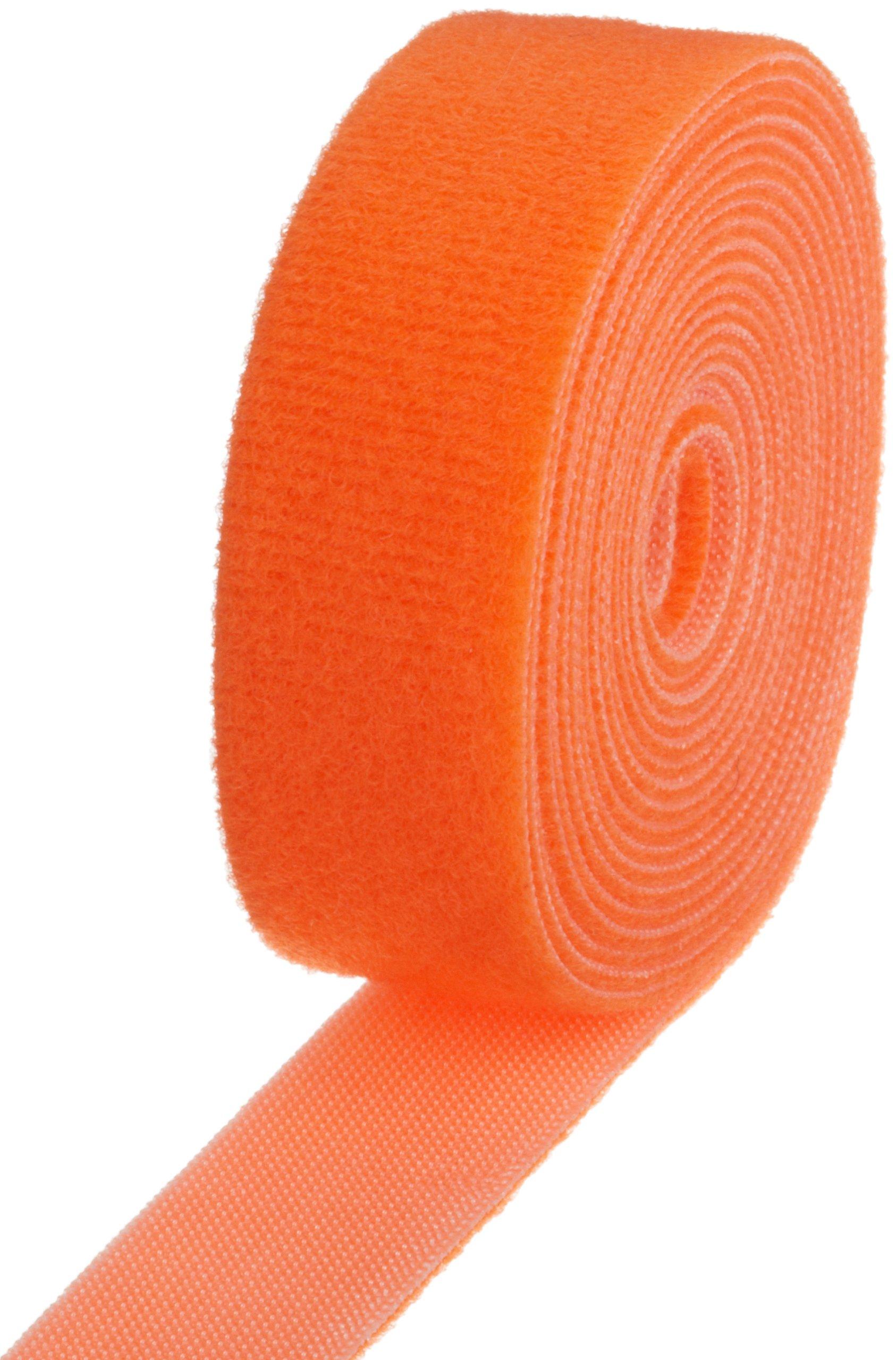 VELCRO 1834-OW-PB/B Orange Nylon Velcro Onewrap Strap, Hook and Loop, 1'' Wide, 10' Length