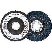 2 x Bosch Professional Lamellenschuurschijf (X-LOCK, Ø: 115 mm, korrelgrootte K40, Bohrung Ø 22,23 mm, schuin…