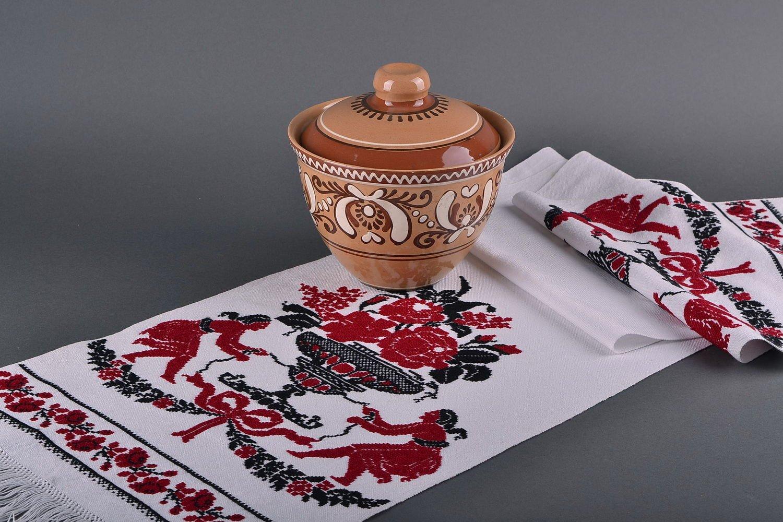 Rushnik Ukrainian ethnic towel with handmade embroidery house decor