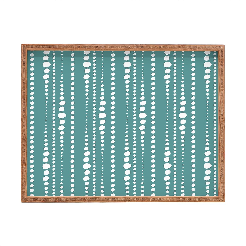 Deny Designs Heather Dutton Bestrewn Stone Indoor//Outdoor Rectangular Tray 14 x 18