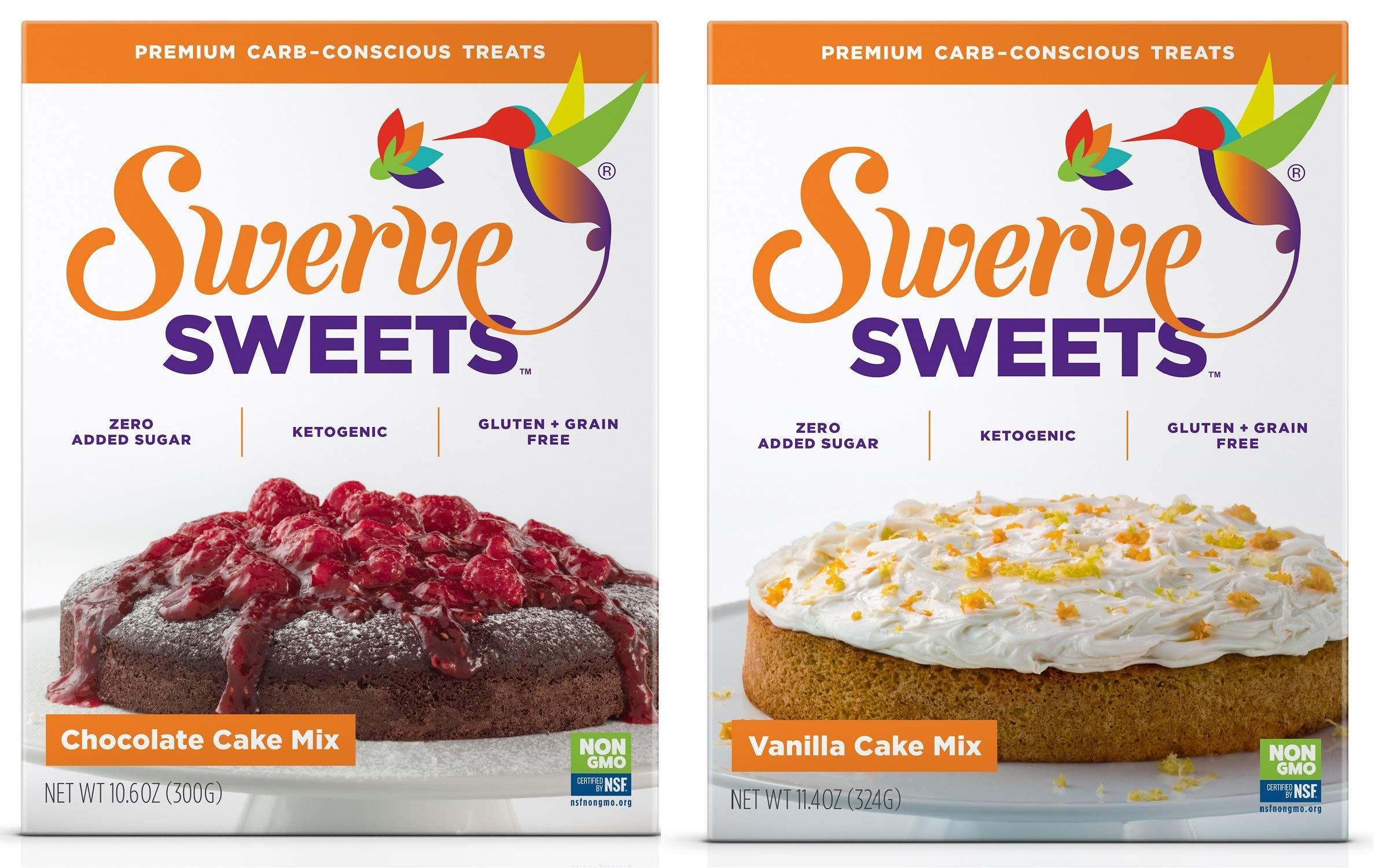 Swerve Sweets, Cake Mix Bundle, Chocolate and Vanilla Cake Mixes by Swerve (Image #1)
