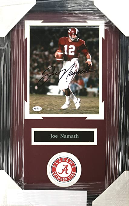 quite nice 18f80 551df Joe Namath Alabama Crimson Tide Signed Autographed 22