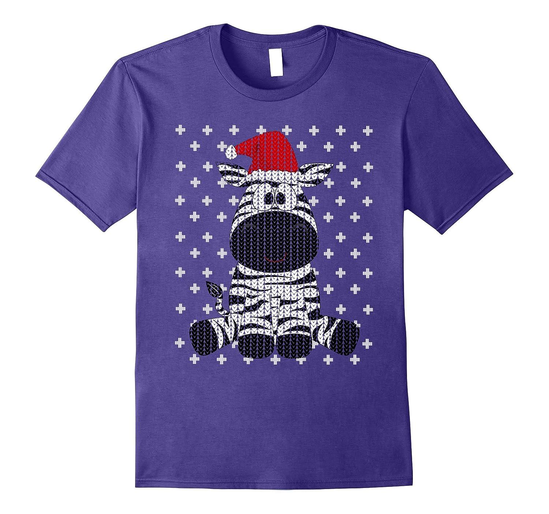UGLY CHRISTMAS SWEATER SHIRT Zebra Santa Animal Lover Funny-ANZ