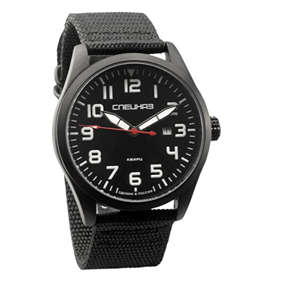 Slava Spetsnaz Fuerzas Especiales Ataque Ruso muñeca reloj de cuarzo para hombres: Amazon.es: Relojes