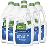 Seventh Generation Dishwasher Detergent Gel with Powerful Citric Acid, Free & Clear, 42 oz (6 Pack)