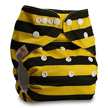 Fastener: Popper Littles /& Bloomz Reusable Pocket Cloth Nappy with 1 Bamboo Charcoal Insert Pattern 78 Set of 1