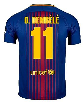 Nike O. Dembélé #11 FC Barcelona Home Soccer Jersey 2017/18 Youth (