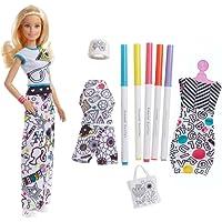 Barbie - Crayola Colora la Moda - con Pennarelli e Abiti da Colorare, FPH90