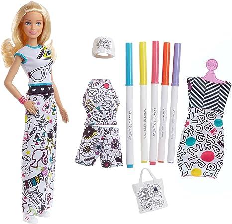 Barbie Crayola Colora La Moda Con Pennarelli E Abiti Da Colorare