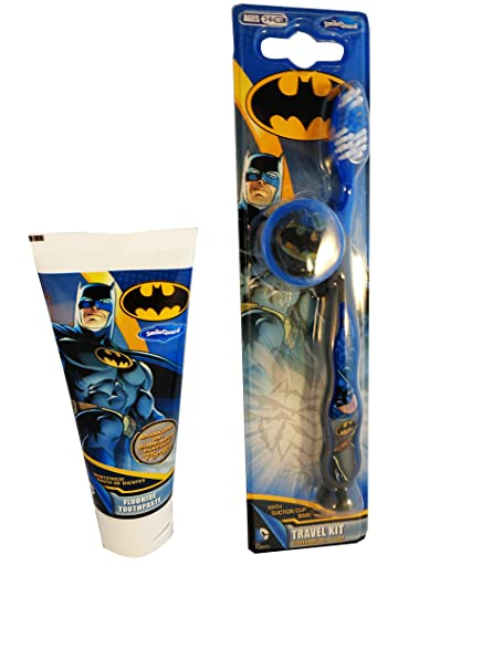 BATMAN Bathroom Set   Batman Toothbrush With Suction Cup Base And Cap Batman  Toothpaste