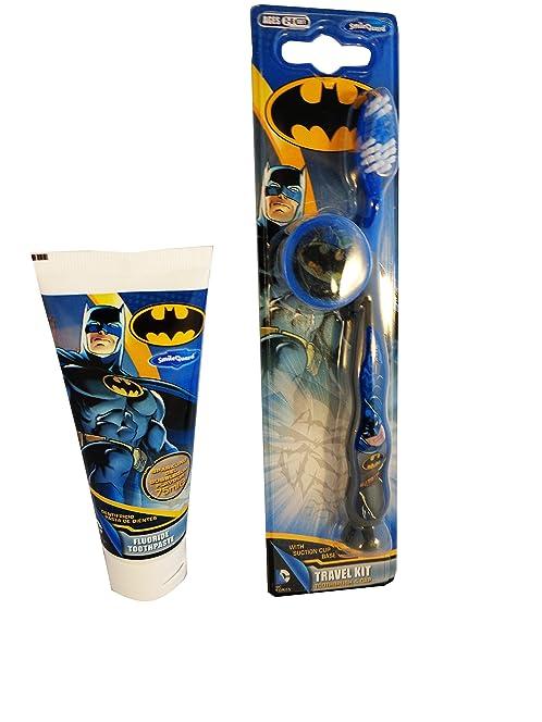 BATMAN Bathroom Set   Batman Toothbrush With Suction Cup Base And Cap Batman  Toothpaste