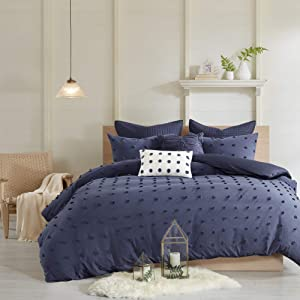 Urban Habitat Brooklyn Cotton Jacquard Comforter Set Indigo Blue King/Cal King