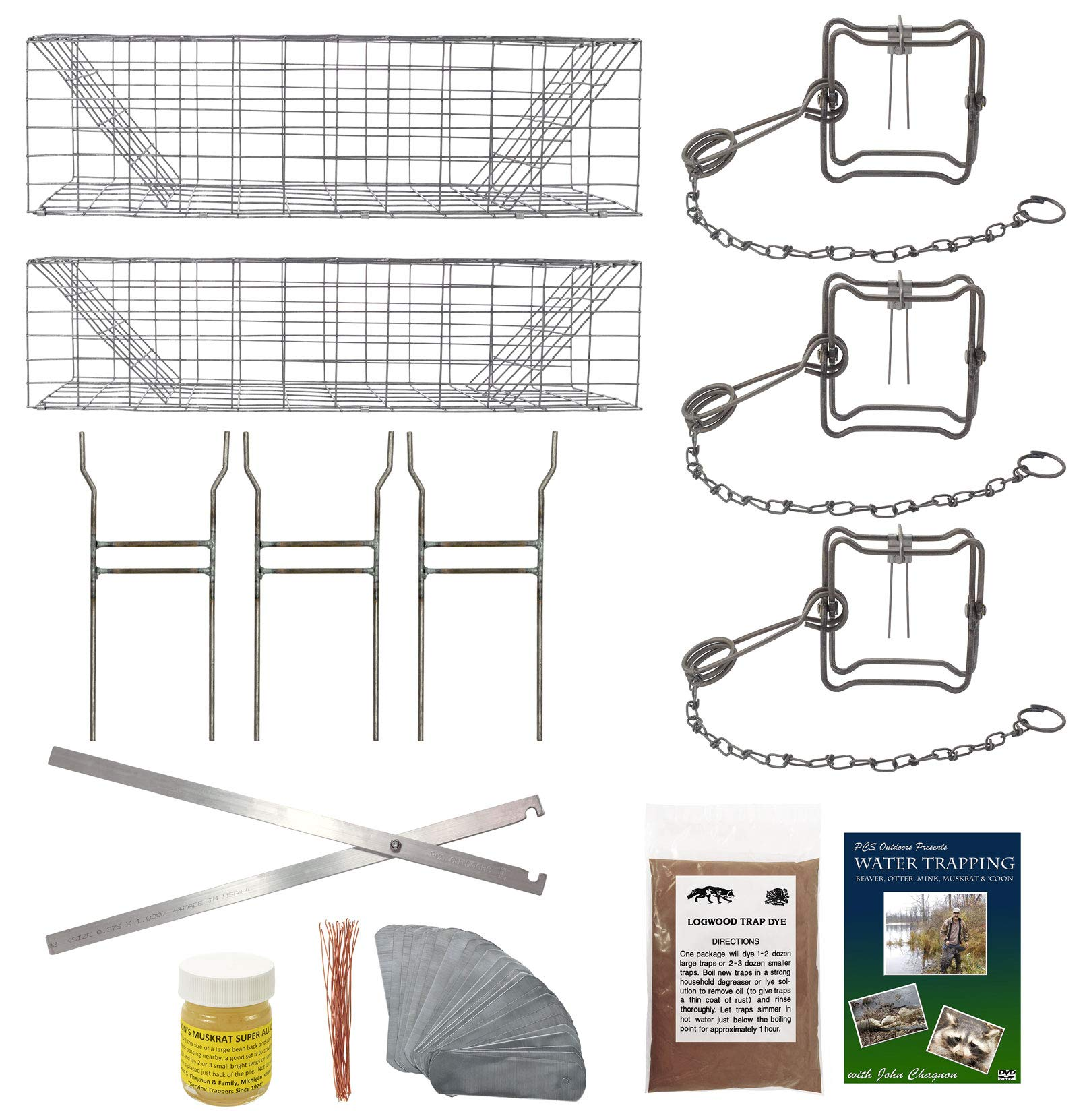 PCS Outdoors Basic Muskrat Trapping Starter Kit (13 Pieces)