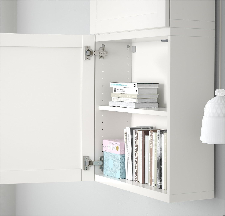 IKEA BESTA - Armario de pared con 2 puertas Hanviken blanco ...